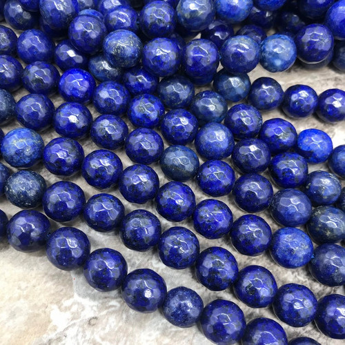Lapis Lazuli Beads, Faceted, 10mm