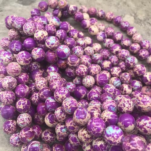 Purple Sea Sediment Jasper Beads, 10mm - 15 inch strand