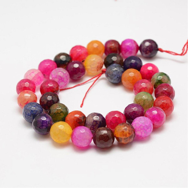 Dragon Veins Agate Beads, Multicolor, 10mm