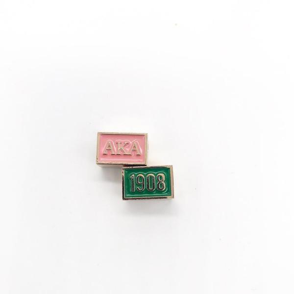 Alpha Kappa Alpha 2 Sided Bead, Medium Green