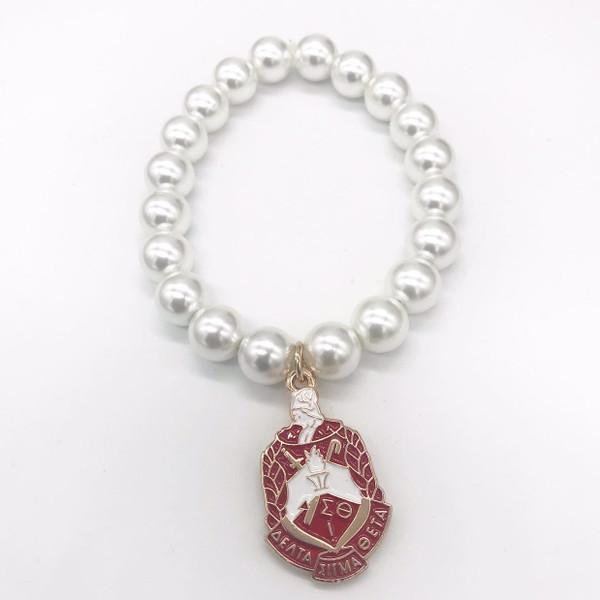 Delta Sigma Theta Pearl Bracelet -D105