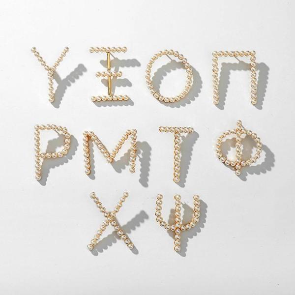 Pearl Greek Letter Pin