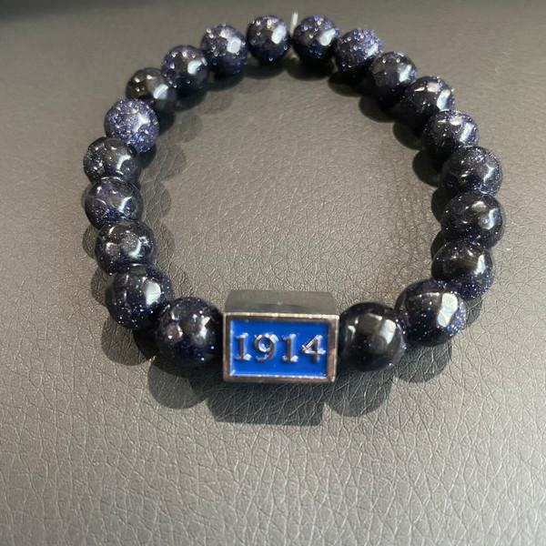 Phi Beta Sigma Bracelet B/GSTONE