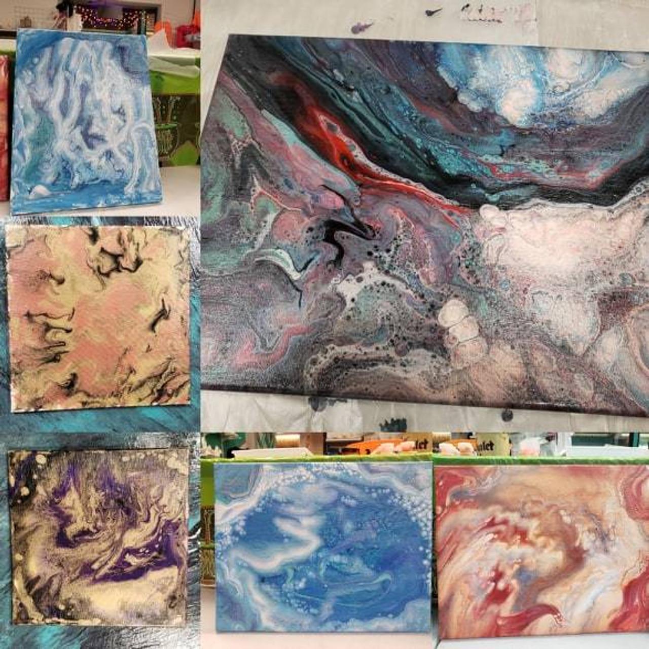 Paint Pours Canvas