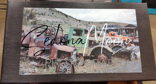 Sedona Moon Digital Photos on Canvas-Junk Trucks