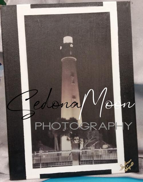 Sedona Moon Digital Photos on Canvas-Ponce LightHouse