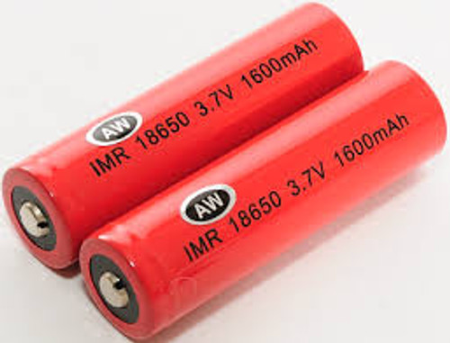 AW set of 2 18650 batteries 2000mah