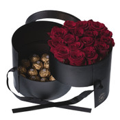 SOLD OUT - Gourmet Box of Everlasting Roses with Chocolates