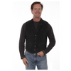 Men's Black Boar Suede Vest with Aztec Back By Scully 1045-19