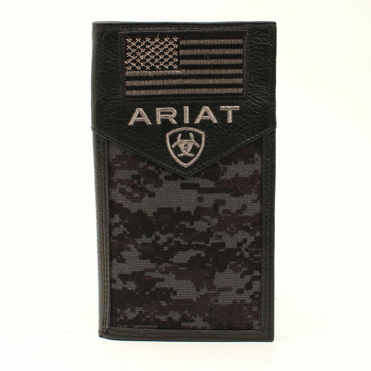 59284196038b1 Men's Black Ariat Rodeo Checkbook Digital Camo A3536401 - Cowtown ...