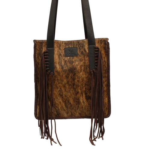 Ariat Brown Scarlett Tote With Calf Hair And Fringe A770006602