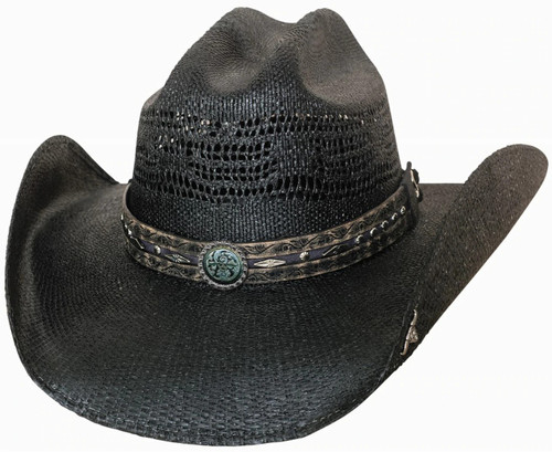 Corral Dust Black Straw Hat By Montecarlo Hats 2879BL