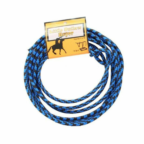 Little Outlaw Youth Rope Lasso in Blue and Black 5010388