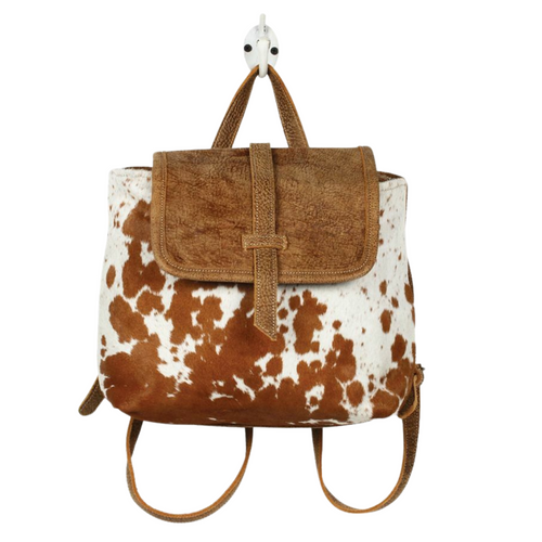 Leather Flap Hairon backpack Bag by Mrya Bags S-1216