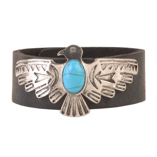 American Eagle Cuff Bracelet in Black by Most Wanted