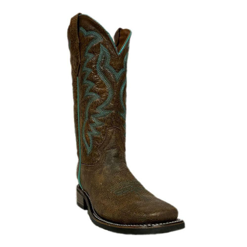 Women's Peanut Embroidery Wide Square Toe Western Boot L5722