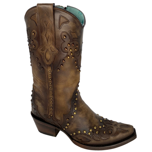 Corral Maple Overlay Studded Western Boot C3738