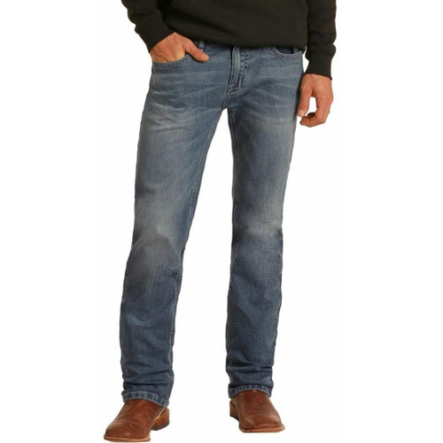 Hooey Slim Fit Stretch Straight Bootcut Jeans M1R1807