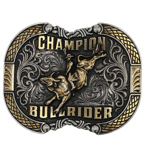 Roped In Champion Bull Rider Attitude Belt Buckle A870