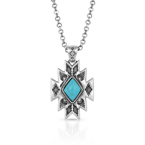 Turquoise Star Pendant Necklace NC5036