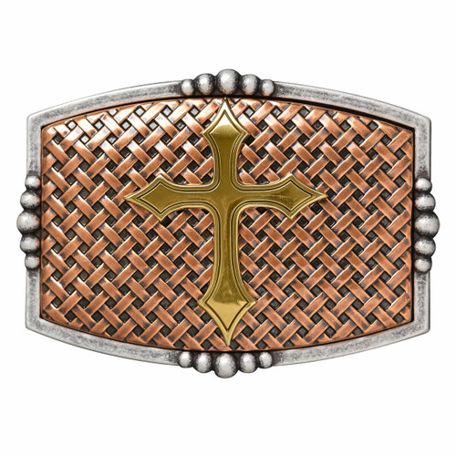 Copper Basketweave with Cross Buckle 37115