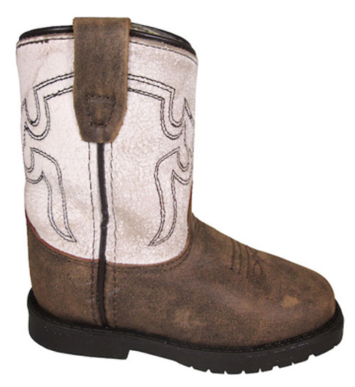 Toddler's Autry Brown Distress/Antique White Western Boot 3109T