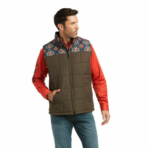 Men's Banyan Bark/Southwest Crius Insulated Vest By Ariat 10037546