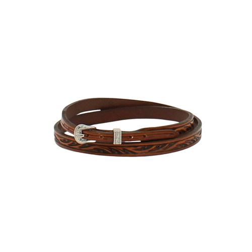 Twister Hatband Floral Tooled Tan 0274308