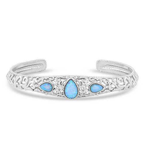 Crystal Pools Silver Bracelet by Montana Silversmiths BC5117