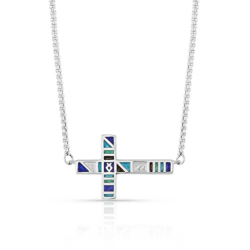 Legends Color Cross Necklace by Montana Silversmiths NC5094
