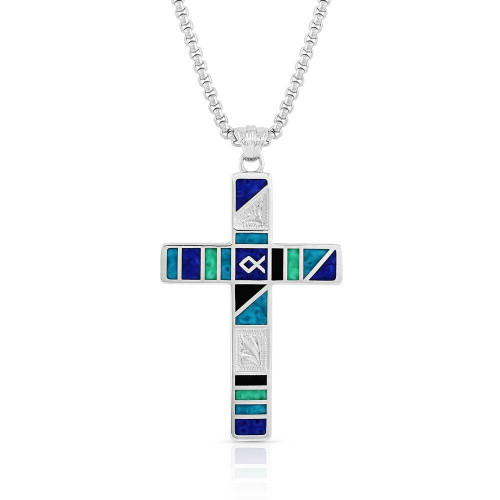 Legends Block Color Cross Necklace by Montana Silversmiths NC5097