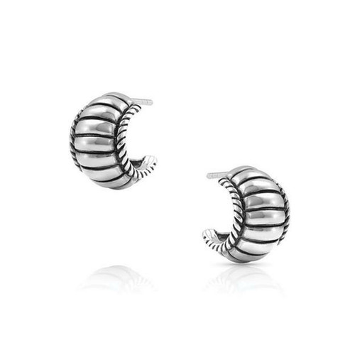 Cable Elegance Huggie Earring by Montana Silversmith ER4740
