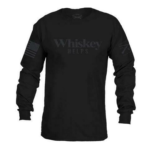 Whiskey Helps Black Label Long Sleeve Shirt by Grunt Style GS2695