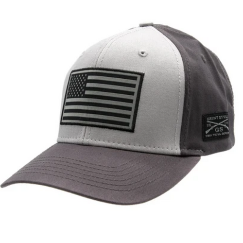 American Flag Grey Hat by Grunt Style GS3689