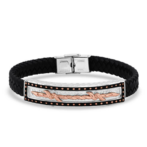 Cover Leather Wrap Bracelet by Montana Silversmiths BC5104