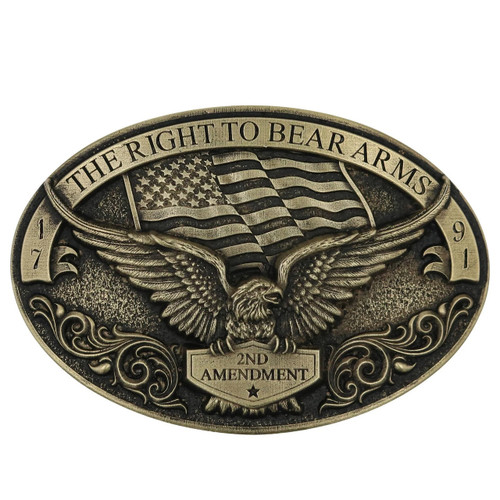 Soaring Eagle Arms Belt Buckle By Montana Silversmiths A877