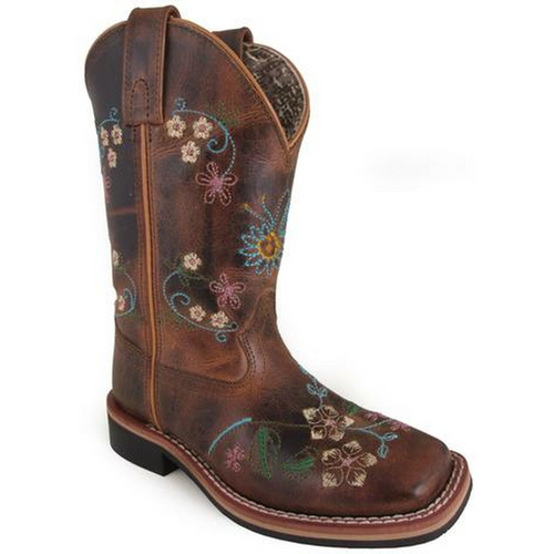 Children's Floralie Embroidered Western Boot by Smoky Mountain 3843