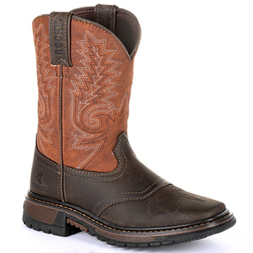 Children's Ride FLX Western Boot by Rocky RKW0257