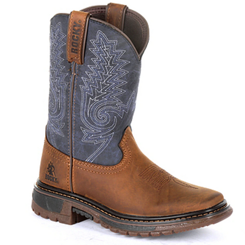 Kids' Ride FLX Western Boot by Rocky Brands RKW0255