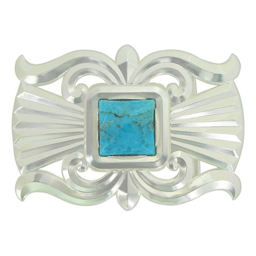Gates of the Mountain Turquoise Belt Buckle by Montana Silversmiths 36810TQ