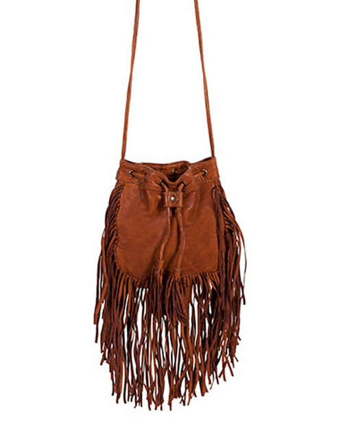 Fringe Leather Crossbody Bag by Scully Leather B184
