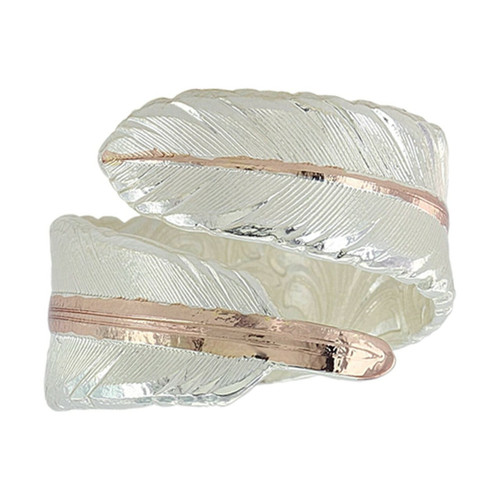 Rose Gold Filament Feather Ring by Montana Silversmith RG3430RG