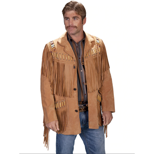 Men's Fringe Leather Jacket by Scully Leather 902-409