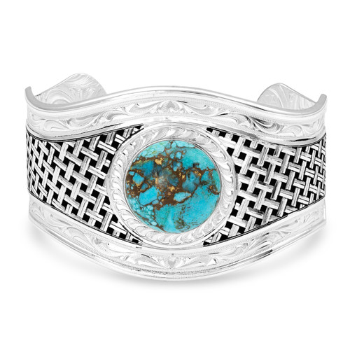 Silver Legacy Turquoise Cuff Bracelet by Montana Silversmith BC3992