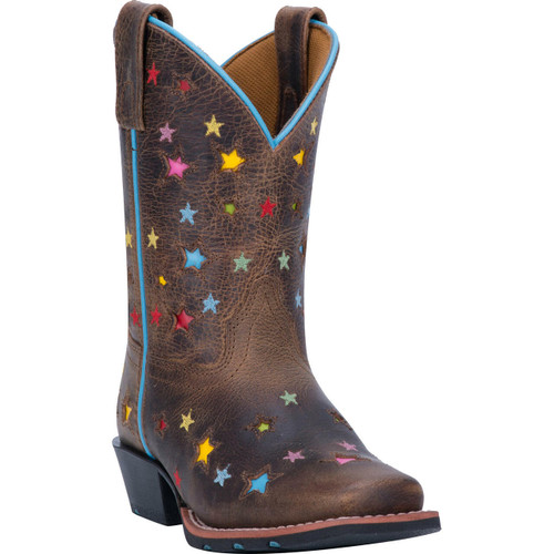 Children's Wide Square Toe Starlett Leather Boots Handcrafted By Dan Post DPC2952