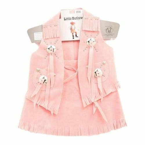 Children's Bigtime Rodeo Pink Faux Suede Vest by M&F 5083430