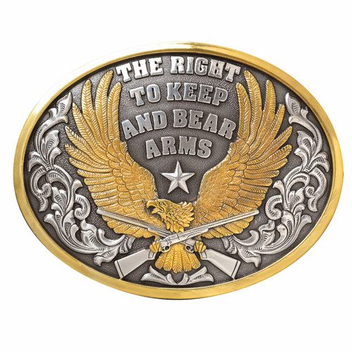 The Right To Bear Arms Belt Buckle by M&F 37117