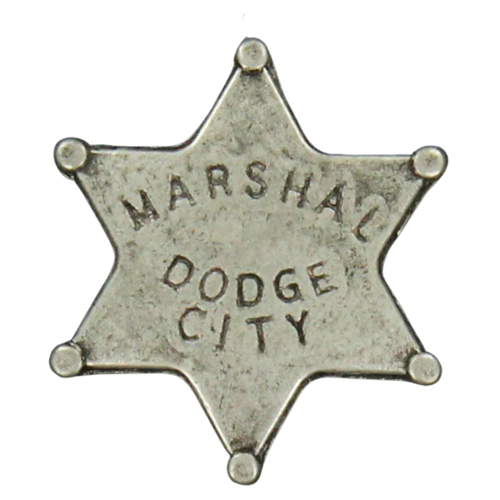 Pewter Marshal of Dodge City Hat Pin Badge by M&F Western 28228