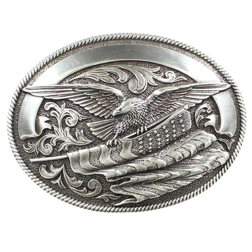 Eagle and Flag Belt Buckle by M&F  37034