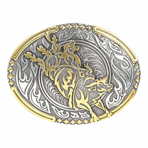 Crumrine Vintage Bull Rider Buckle by M&F 38010